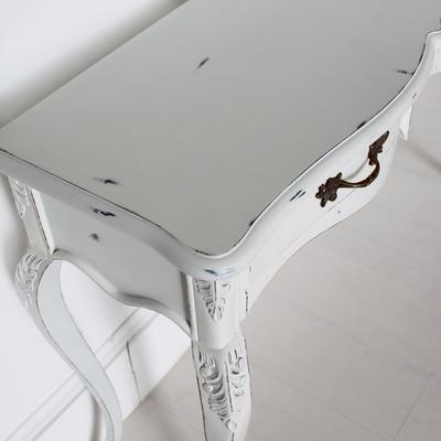 Ripple French Two Drawer Console / Dressing Table in Antique White image 4