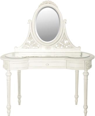 Glass Top Dressing Table with Mirror