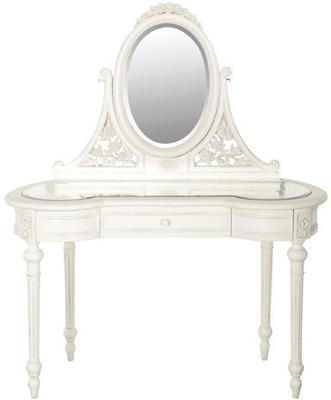 Glass Top Dressing Table with Mirror image 2