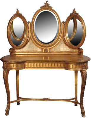 Triple Mirror Dressing Table