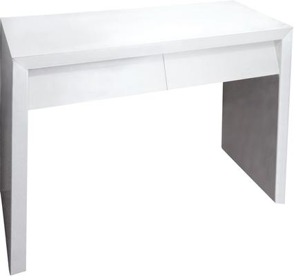 Angled Dressing Table in White