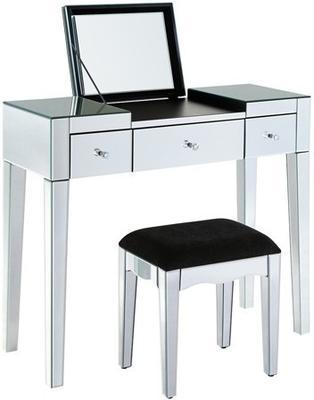 Modish Mirrored Dressing Table Set image 2