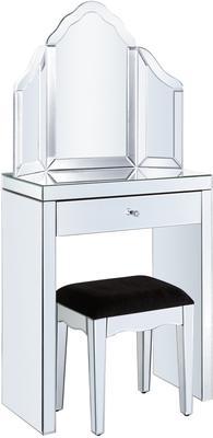 Mini Mirrored Dressing Table Set
