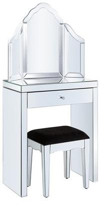 Mini Mirrored Dressing Table Set image 2