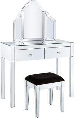 Mirrored Dressing Table Set image 2