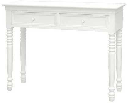 Traditional Dressing Table White Paint with Slight Distressed Design