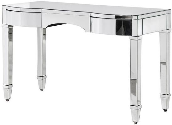 Curved Drawer Mirrored Dressing Table Bevelled Design