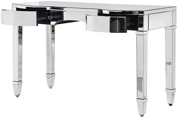 Curved Drawer Mirrored Dressing Table Bevelled Design image 2