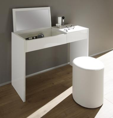 Ponte Dressing Table - High Gloss White Lacquer