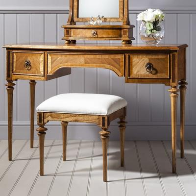 Spire Antiqued Solid Wood Dressing Table image 2