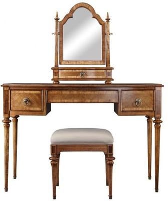 Spire Antiqued Solid Wood Dressing Table image 4