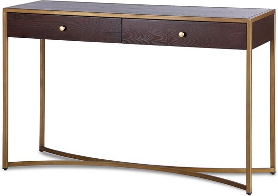 Rivoli Dressing Table Brown Ash Steel or Brass Frame