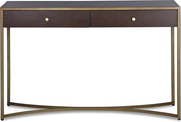 Rivoli Dressing Table Brown Ash Steel or Brass Frame image 6