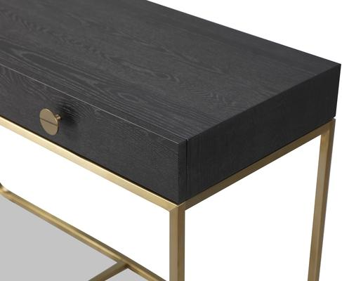 Rhapsody Dressing Table Black Ash and Brass Frame image 2