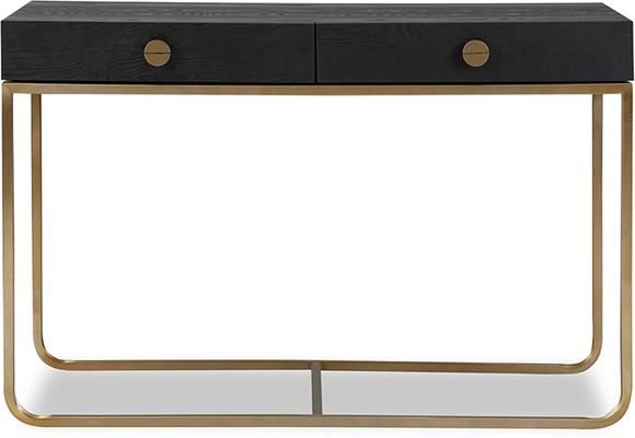 Rhapsody Dressing Table Black Ash and Brass Frame