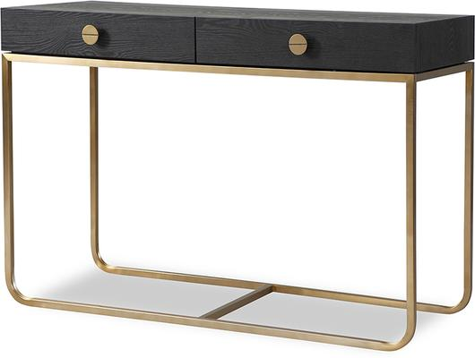 Rhapsody Dressing Table Black Ash and Brass Frame image 5