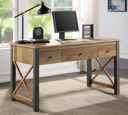 Urban Elegance Home Office Desk / Dressing Table Reclaimed Wood and Aluminium