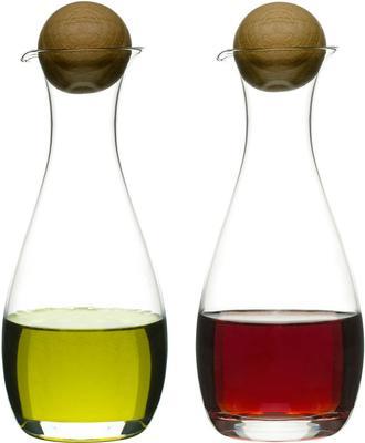 Sagaform Oil or Vinegar Bottles with Oak Stoppers