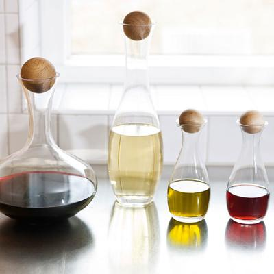 Sagaform Oil or Vinegar Bottles with Oak Stoppers image 3