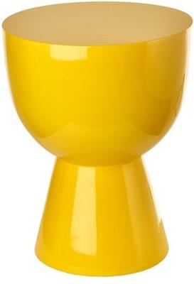 Bold Egg Cup Stool Lacquered in Red or Yellow