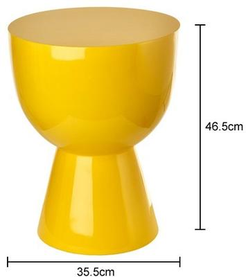 Bold Egg Cup Stool Lacquered in Red or Yellow image 2
