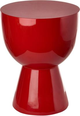 Bold Egg Cup Stool Lacquered in Red or Yellow image 3