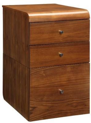 Jual Retro 3 Drawer High Cabinet for Desks PC605 - Walnut