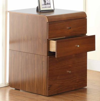 Jual Retro 3 Drawer High Cabinet for Desks PC605 - Walnut image 2