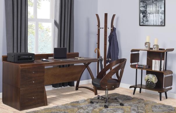 Jual Retro 3 Drawer High Cabinet for Desks PC605 - Walnut image 4