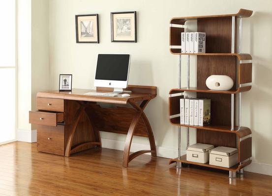 Jual Retro 3 Drawer High Cabinet for Desks PC605 - Walnut image 5