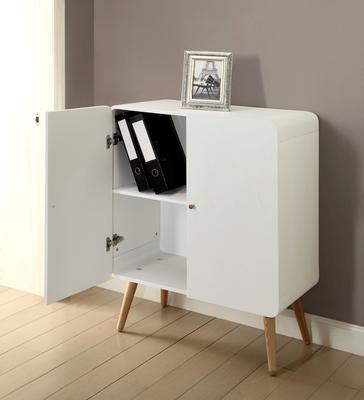 Jual Retro Wood Filing Cabinet - White