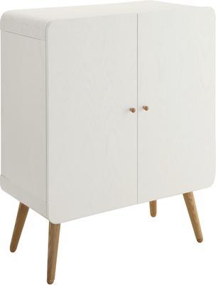 Jual Retro Wood Filing Cabinet - Ash or White image 4
