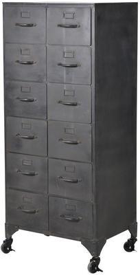 Industrial Metal Filing Cabinet 12 Drawers