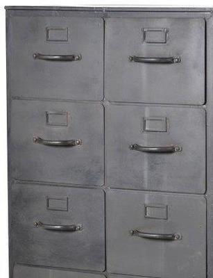 Industrial Metal Filing Cabinet 12 Drawers image 2