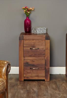 Shiro Walnut 2 Drawer Filing Cabinet image 2