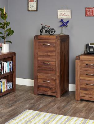 Shiro Walnut 3 Drawer Filing Cabinet image 2