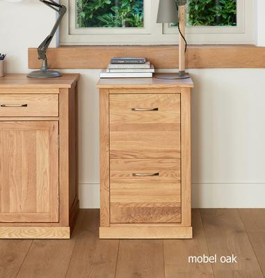 Mobel Solid Oak Modern Filing Cabinet Two Drawer image 2