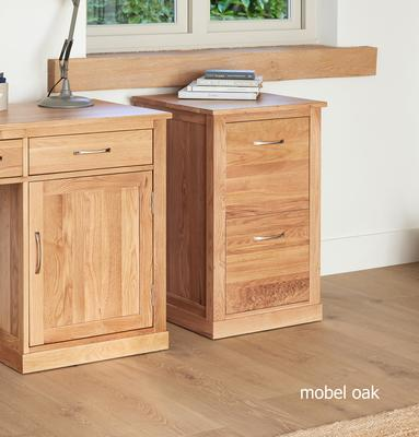 Mobel Solid Oak Modern Filing Cabinet Two Drawer image 3