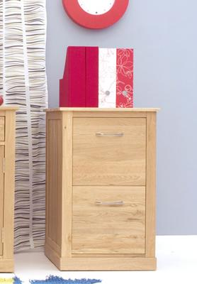 Mobel Solid Oak Modern Filing Cabinet Two Drawer image 5