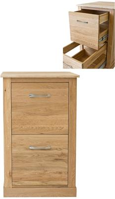Mobel Solid Oak Modern Filing Cabinet Two Drawer image 6