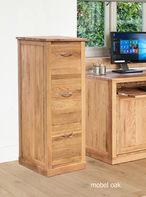 Mobel Oak 3 Drawer Filing Cabinet Modern Design