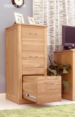 Mobel Oak 3 Drawer Filing Cabinet Modern Design image 2