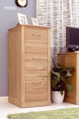 Mobel Oak 3 Drawer Filing Cabinet Modern Design image 3