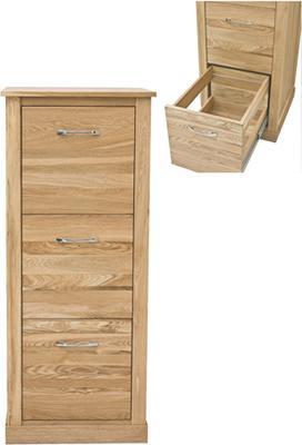 Mobel Oak 3 Drawer Filing Cabinet Modern Design image 5