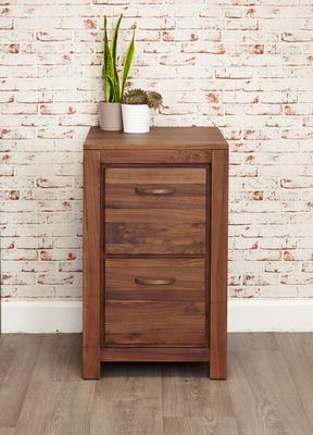 Mayan Walnut 2 Drawer Filing Cabinet Rustic image 2