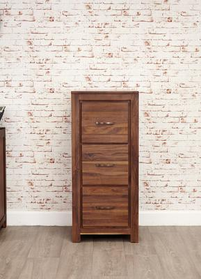 Mayan Walnut 3 Drawer Filing Cabinet Rustic Design image 3