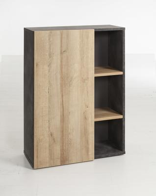 Asti Small Office Storage - Oak and Grey  Finish image 2