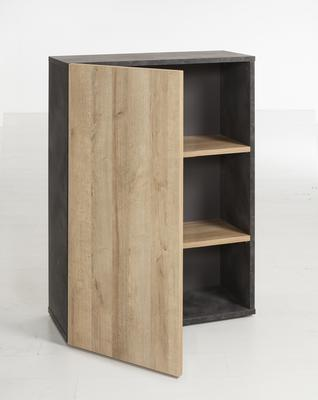 Asti Small Office Storage - Oak and Grey  Finish