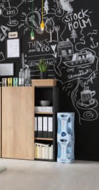Asti Small Office Storage - Oak and Grey  Finish image 3