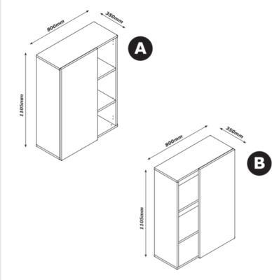 Asti Small Office Storage - Oak and Grey  Finish image 4